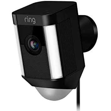 972d4932cdd Amazon.com  Ring Spotlight Cam Wired  Plugged-in HD security camera with  built-in spotlights