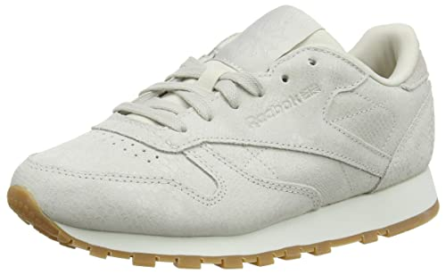 30eac26cb65 Reebok Women s Cl Lthr Gymnastics Shoes Grey  Amazon.co.uk  Shoes   Bags