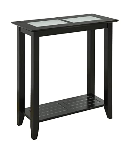 Superbe Convenience Concepts Carmel Hall Table, Black