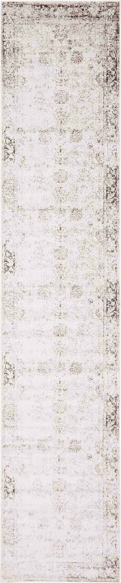 Unique Loom 3141350 Area Rug, 3' x 20' Runner, Beige