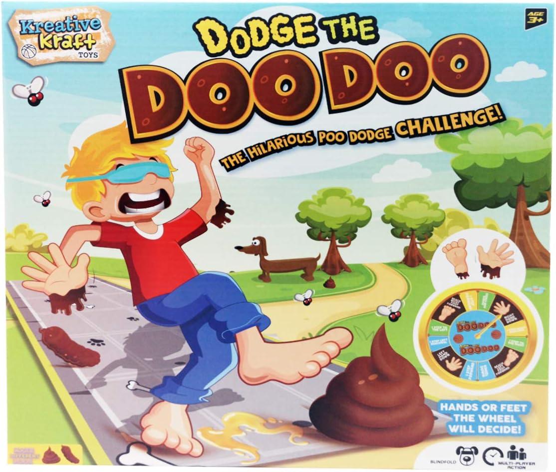 EFG KreativeKraft - Juego «Dodge The Doo Doo», multijugador, con Alfombrilla, para masas y Juegos para niños, para Jugar al Aire Libre o en Interiores, Color marrón (Versión en inglés): Amazon.es: Juguetes