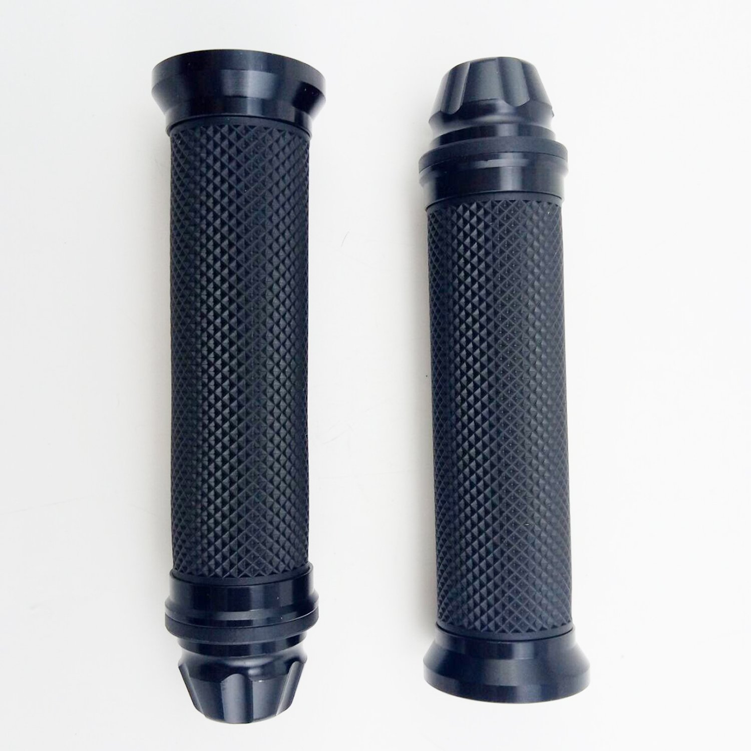 OKSTNO Motorcycle 7//8 CNC Hand Grips Aluminum Rubber Gel Handlebar for Sport Bike Black
