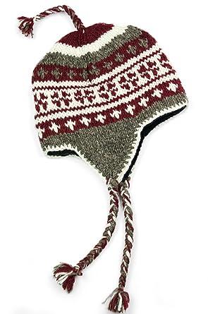 TCG Men s Hand Knit Wool Vintage Pattern Sherpa Hat at Amazon Men s ... 03d2e9831168