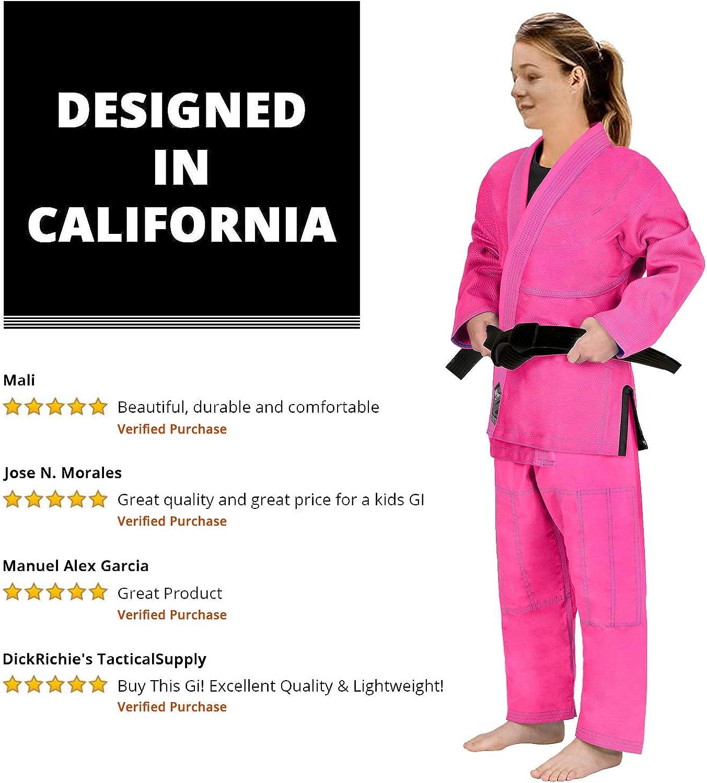 Elite Sports Kids BJJ GI GIS for Youth Jiu Jitsu IBJJF Children/'s Lightweight Brazilian Jiujitsu Kimono W//Preshrunk Fabric /& Free Belt