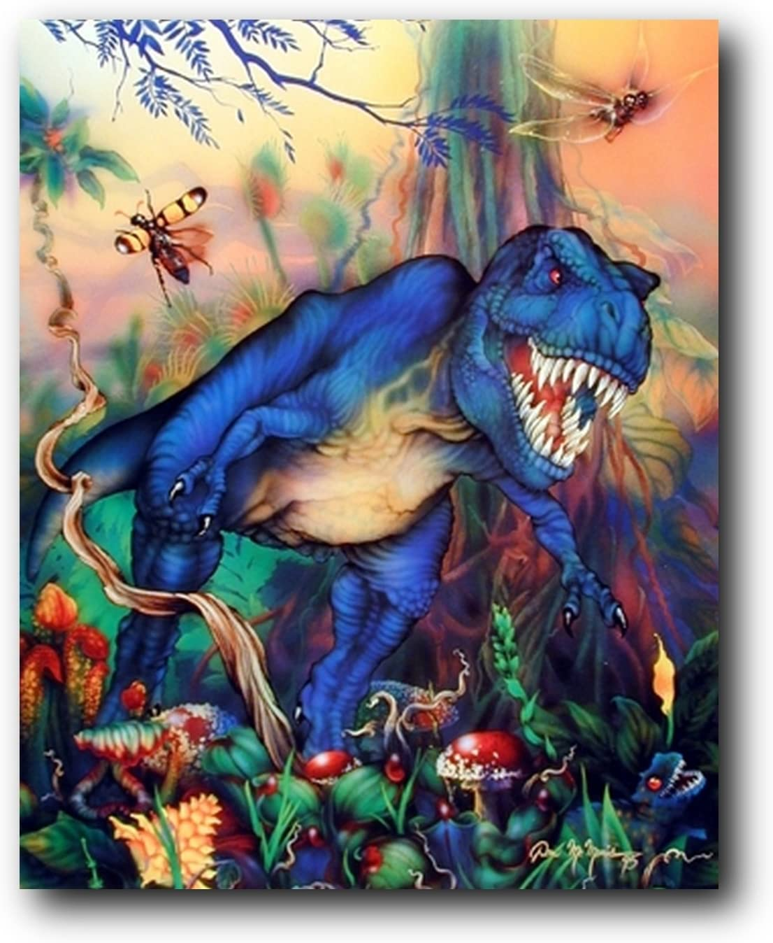 Personalized T-Rex Dinosaur Room Canvas Print