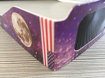 PDFGO Neu Sonnenfinsternis Brillen Sonnenbrillen Sonnenaufgang Whole Foods Schutzbrillen Astronomie Beobachtung Beobachten Sonnenbrille Unisex,C