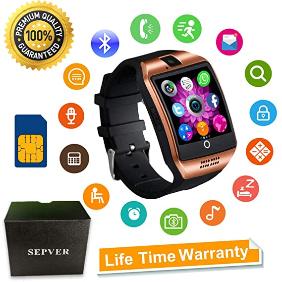 Smart Watch, SN06 Smartwatch with Touch Screen Camera SIM Card Slot Sport Watch Pedometer Fitness Tracker Smart Watches for Samsung Xiaomi Huawei ...