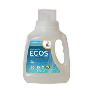 Earth Friendly Products ECOS Free & Clear Laundry Detergent, Ultra Concentrated Liquid - 50 fl oz
