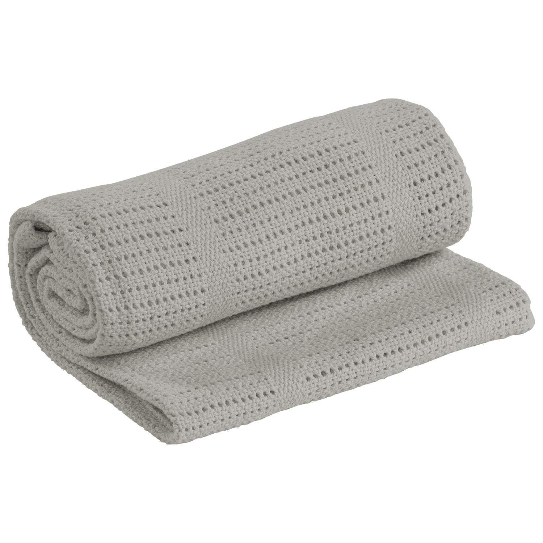 MiMiXiong Cellular Baby Blanket for Pram Cot Bed Moses Basket Grey