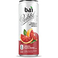 Bai Bubbles, Sparkling Water, Jamaica Blood Orange, Antioxidant Infused Drinks, 11.5 Fluid Ounce Cans, 12 count