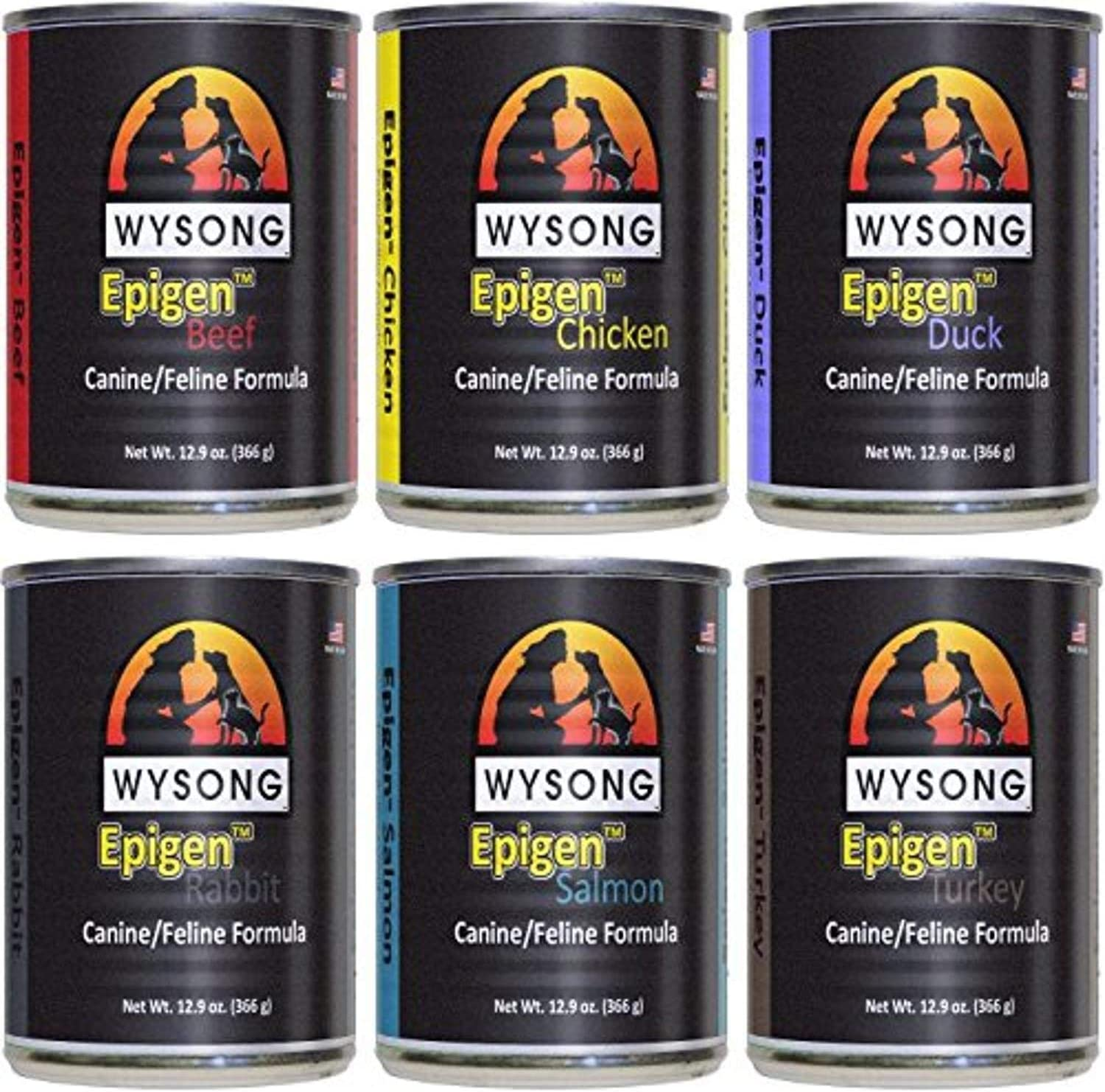 Wysong Epigen Variety Pack Canine/Feline Canned Formula - Dog/Cat/Ferret Food, Six- 12.9 Ounce Cans