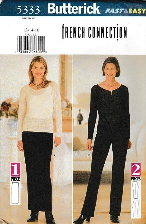 Butterick 5333 B5333 - Patrones de costura para falda y pantalón ...
