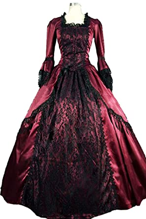 47716576e97f Amazon.com: Hao Kaos Women's Royal Gothic Ball Gown Vintage Victorian Costume  Dress Medieval Renaissance Dresses: Clothing