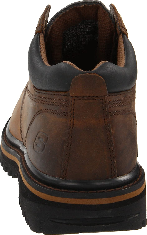 Skechers USA Men's Mariner Utility Boot Dark Brown