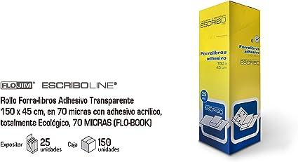 Forralibros Adhesivo 45 x 150 cm. Caja 25 unidades.: Amazon.es ...