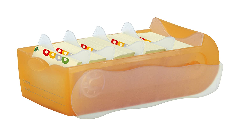 CROCO Lern- Telefon orange//trans.//klar. und Karteibox A8