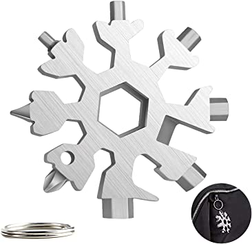 20-in-1 Snowflake Spanner Husband Snowflake Multi Screwdriver Tool 2PCS DIY Handyman Santa Gifts for Men Stainless Portable Gadgets for Men Best Hand Tools Gift for Him Gifts for Men