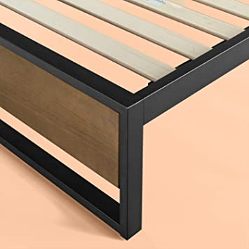 Zinus Suzanne 35,5 cm Struttura con piano senza testiera Base del materasso// Non sono necessarie le molle// Bed in a box// Montaggio facile// 80 x 190 cm