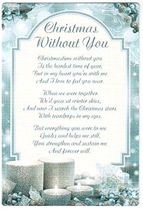 Christmas Without You.Christmas Without You Grave Memorial Card Amazon Co Uk