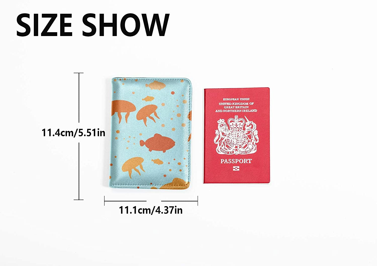 Vintage Passport Cover Cute Underwater Creature Sea Otter Waterproof Passport Cover Multi Purpose Print Passport Cases For Kids Travel Wallets For Unisex 5.51x4.37 Inch