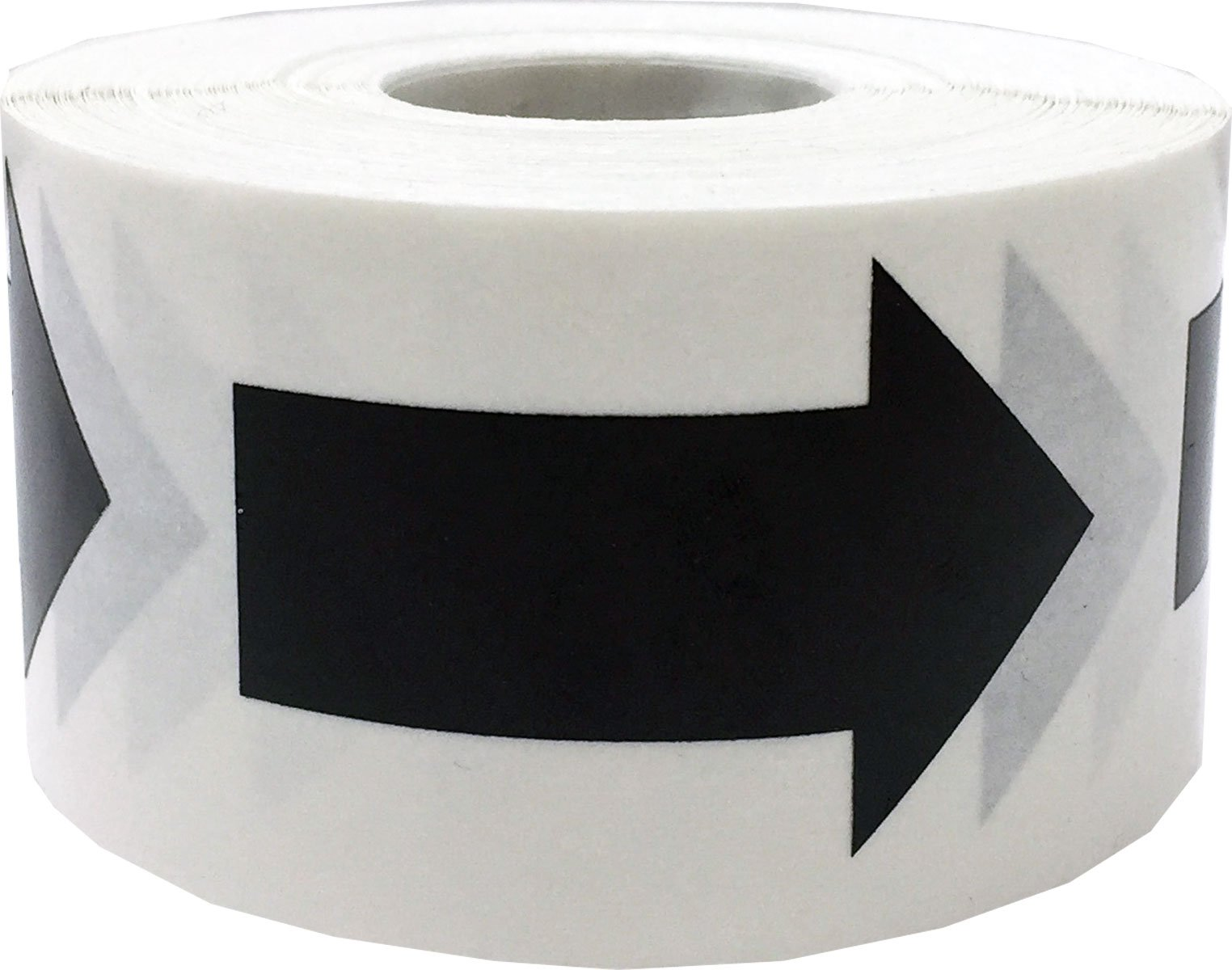 Black Arrow Stickers, 2 x 1 Inches in Size, 500 Labels on a Roll