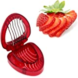 ZRAMO® Accessories Simply Slice Strawberry Section Slicer Kitchen Cutter Gadgets Kitchen Tool Mini Slicer Cut Joie MSC Stainless Steel Blade Craft Fruit Tools Factory kiss