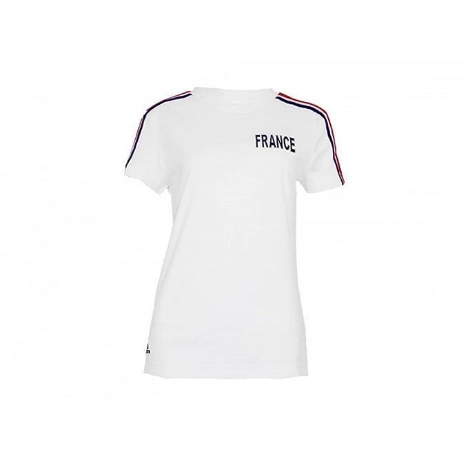 Adidas - Camiseta de manga corta modelo France oficial para mujer (Extra Grande (XL