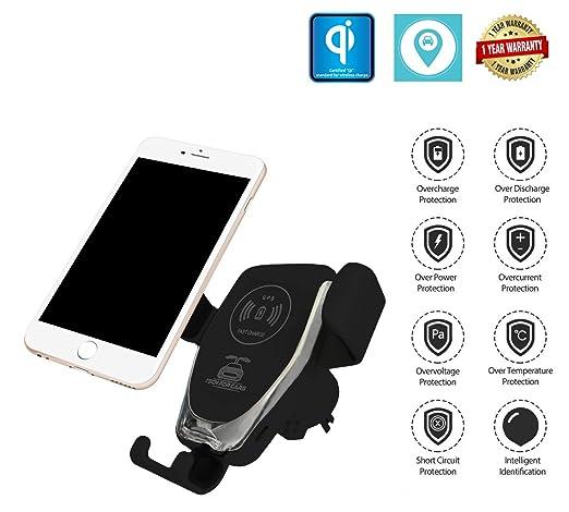 Amazon.com: Cargador de coche inalámbrico con GPS, soporte ...