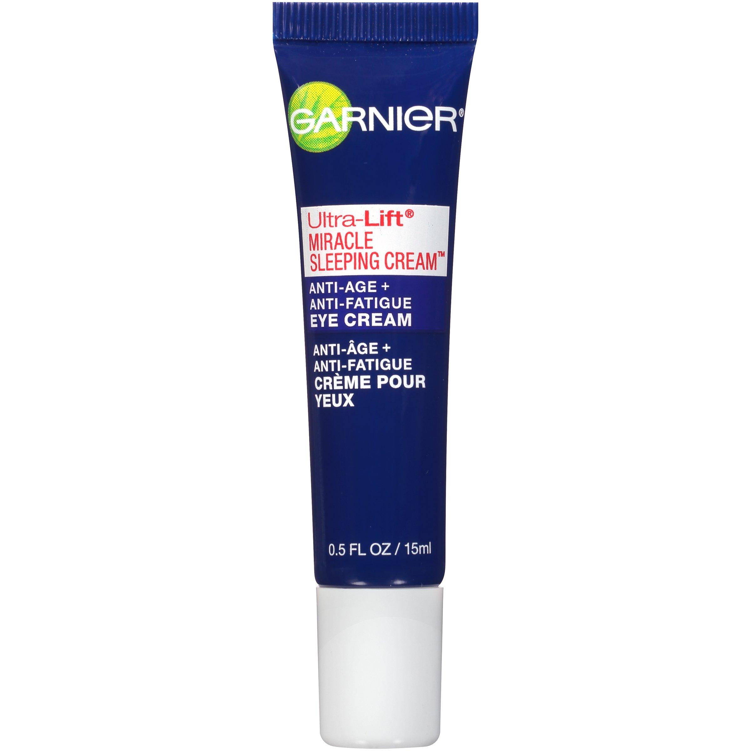 Garnier Ultra-Lift Miracle Sleeping Cream Anti-Age + Anti-Fatigue Eye Cream 0.50 oz