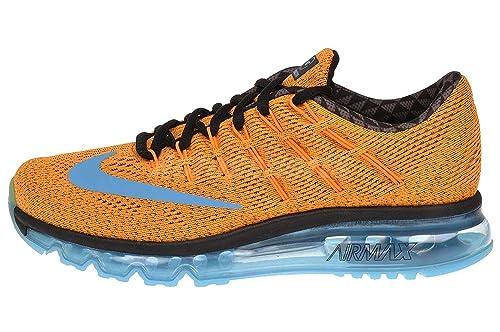 ae6f031bbc9 Nike Air Max 2016 N7 Mens Running Shoe Vivid Orange dark Turquoise gamma  Blue 9 D(M) US  Buy Online at Low Prices in India - Amazon.in