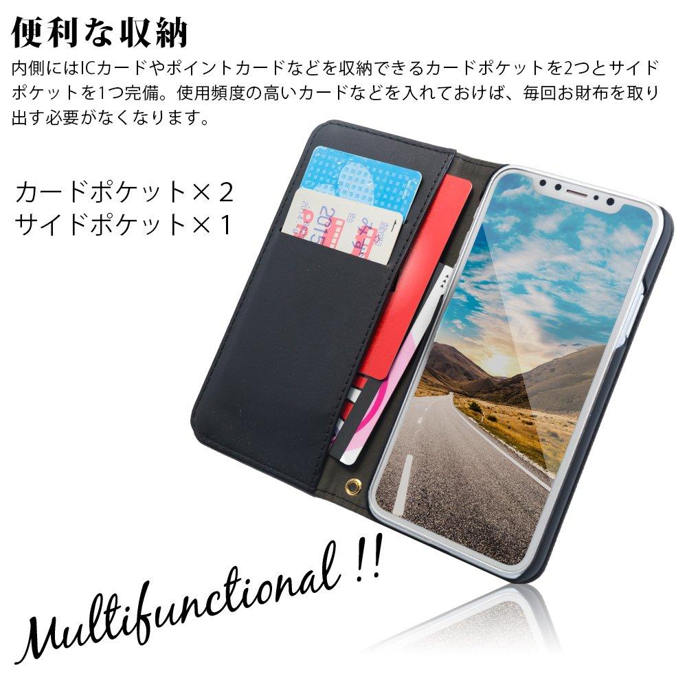 64d7a216d6 Amazon   オウルテック iPhone X/XS 手帳型ケース THE キャンバス地 カードポケット スタンド機能 ストラップホール ブラック  × ターコイズブルー OWL-CVIP809-BKTB ...