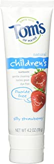 product image for Tom's of Maine, Natural Flouride Free Toothpaste for Children, Silly Strawberry, .4.2 oz