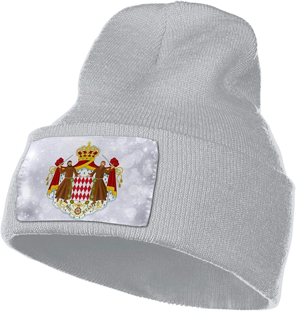 JimHappy Coat of Arms of Monaco Hat for Men and Women Winter Warm Hats Knit Slouchy Thick Skull Cap
