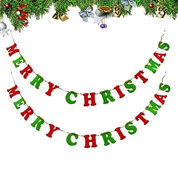 2M Weihnachtsdeko Girlande Weihnachtsgirlande Frohe Weihnachten Filz ...