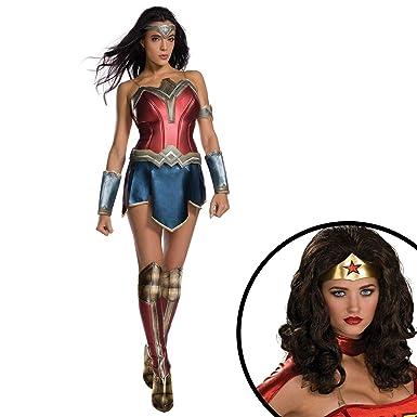 Amazon Com Buyseasons Wonder Woman Movie Adult Costume And Wig Kit