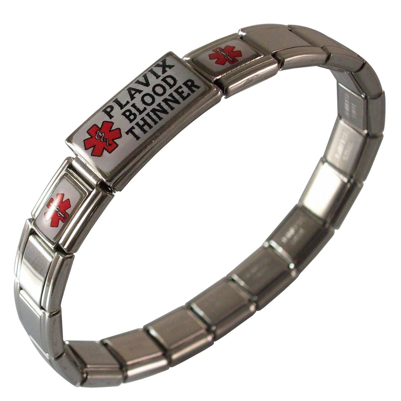 Gadow Jewelry Plavix Bracelet Medical ID Italian Charm