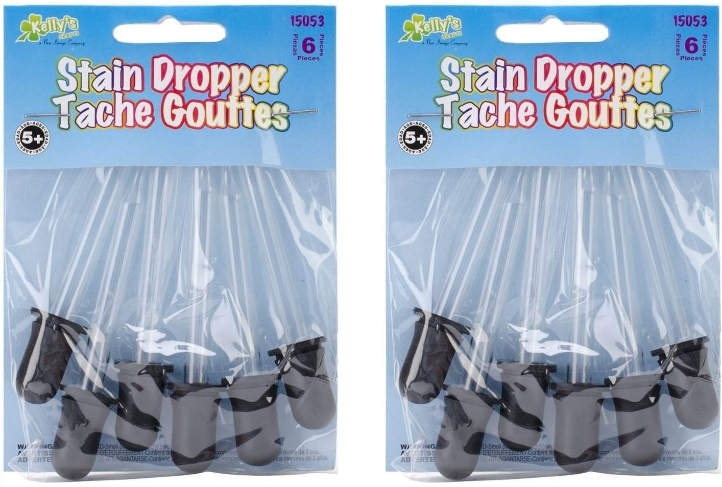 Pack of 6 2 Pack Kellys Crafts Glass Stain Droppers