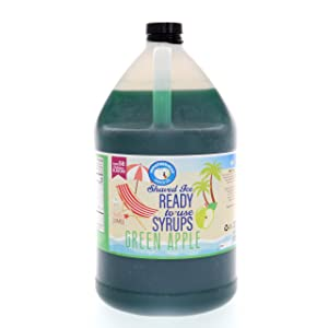 Green Apple Ready to Use Shaved Ice or Snow Cone Syrup Gallon (128 Fl. Oz)