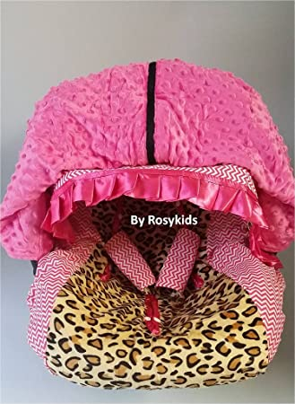 Rosy Kids Infant Carseat Canopy Cover 4pc Whole Caboodle Baby Car Seat And