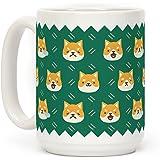 Shiba Inu Emoji Dog Doge 15 OZ Coffee Mug by LookHUMAN