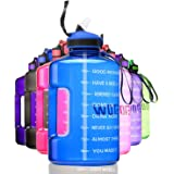 ETDW Gallon Motivational Water Bottle with Straw BPA Free, 3.78Litre Daily Water Intake Bottle with Time Marker 3.78L…