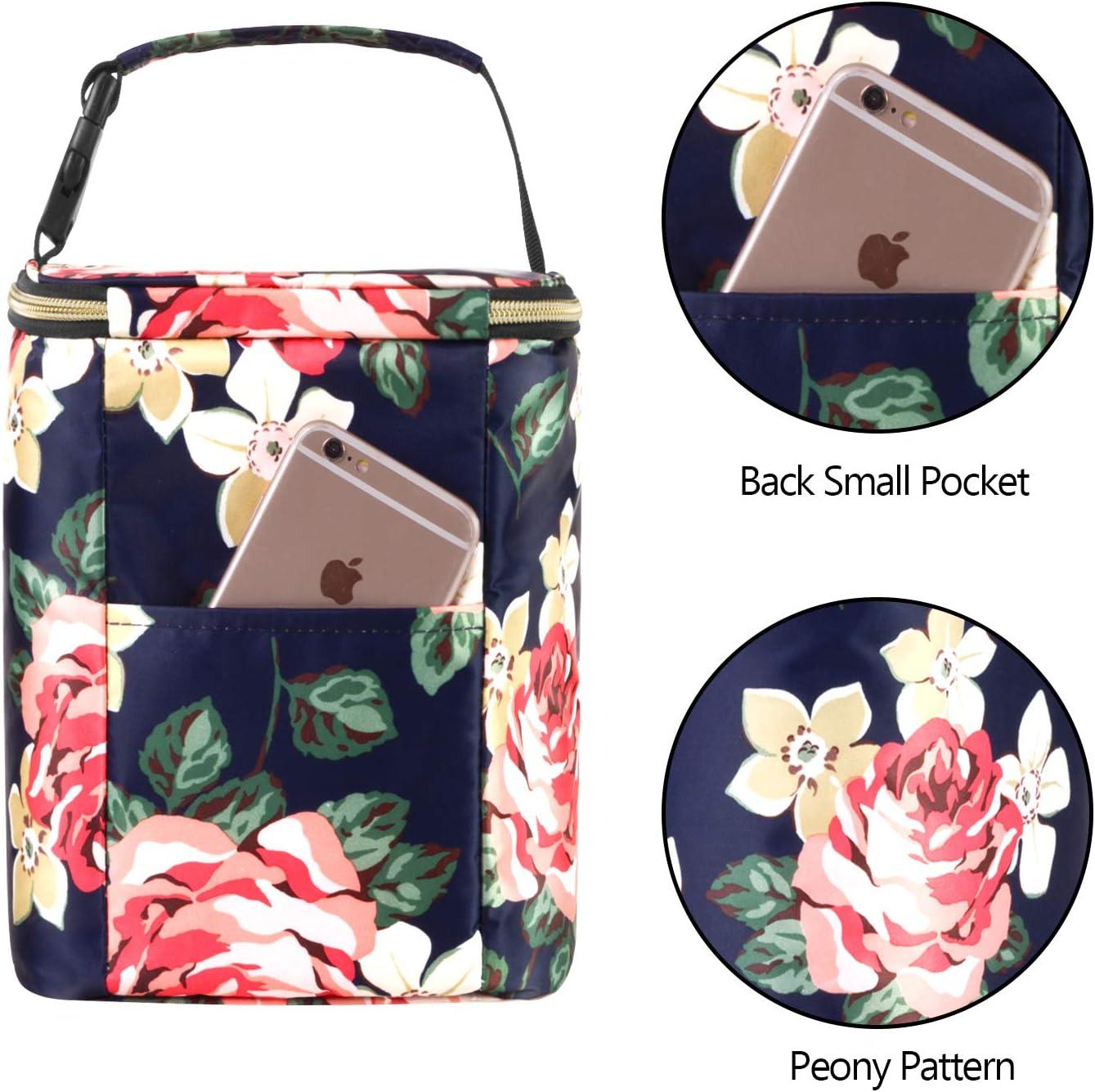 Beige Dandelion and Ice Pack Teamoy Breastmilk Cooler Bag up to 270ml Baby Bottle Cooler Bag for 4 Baby Breastmilk Bottles
