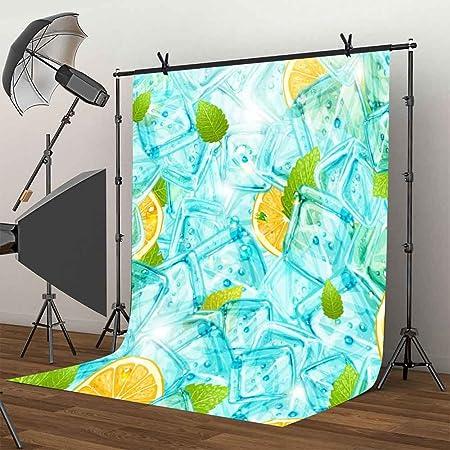 HD 5x7Ft Summer Cool Photography Background Lemon Ice Backdrop Fresh Photo Video Studio Props LXME390