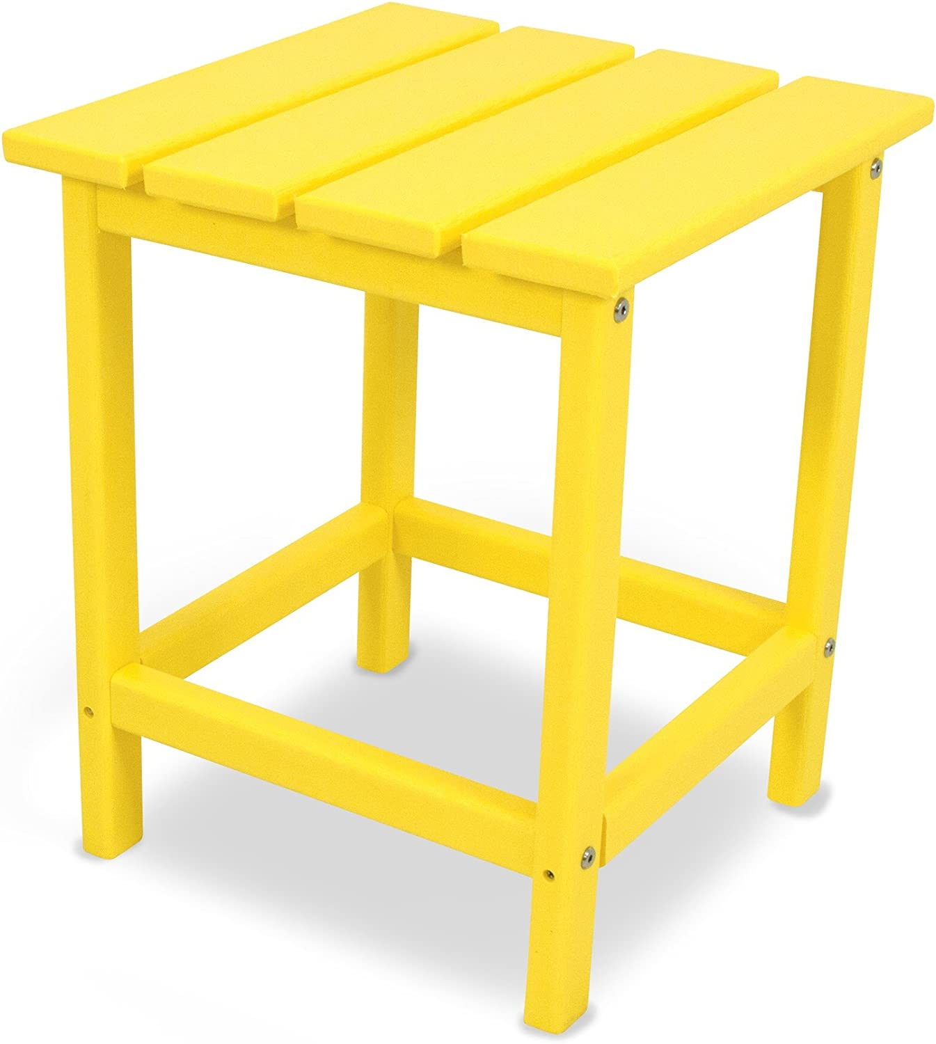 "POLYWOOD ECT18LE Long Island 18"" Side Table, Lemon"