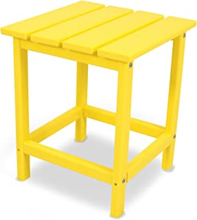 "product image for POLYWOOD ECT18LE Long Island 18"" Side Table, Lemon"