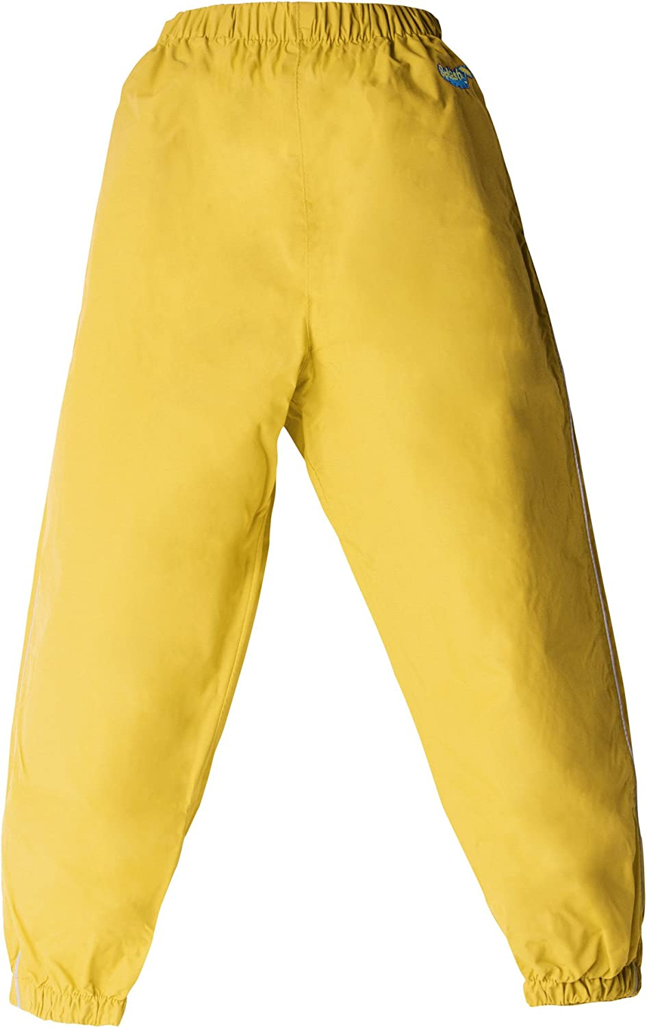 Windproof Splashy Kids Rain Pants Yellow 100/% Waterproof