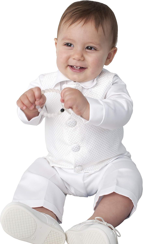 4 Piezas Leo para Trajes de Bautizo en Color Blanco