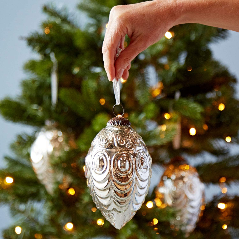 Antiche Immagini Di Natale.Stile Antico In Vetro Ovale Pallina Di Natale Decoration Pack Di Tre Amazon It Casa E Cucina
