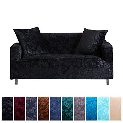 Stretch Sofa Covers Furniture Protector Non Slip Slipcovers For Loveseat, 1  Piece Polyester Spandex Embossing