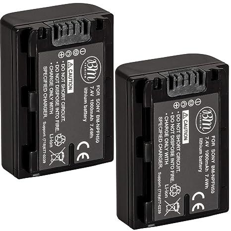 Big Mike es 2 unidades de repuesto NP-FH50 baterías para Sony ...